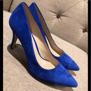BCBG Blue Suede Shoes